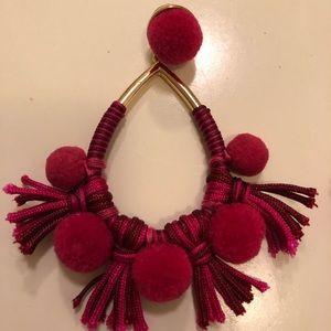 Dark Pink earrings - pierced